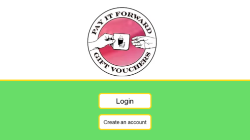 The login screen for the PIF App