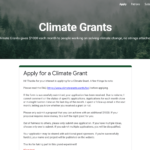 Climate Grants Application Form